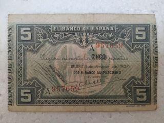 Billetes del año 1937