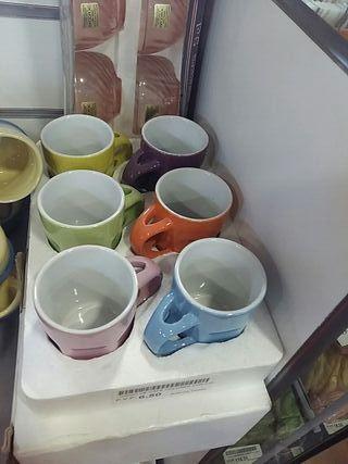 Juego de café 6pzas colores con cuchara