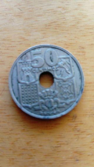 Moneda de 50 céntimos de 1949 Flechas invertidas