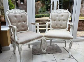 French Louis XV Style Pair Of Chairs.