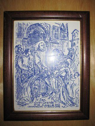 Cuadro azulejo esmaltado San Juan de Dios