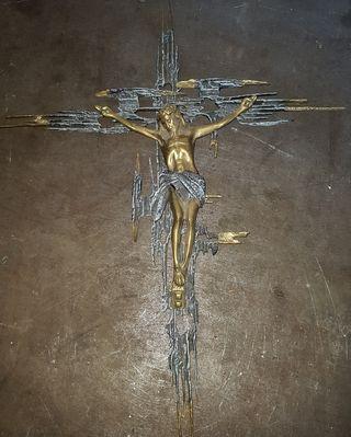 crucifijo bronce