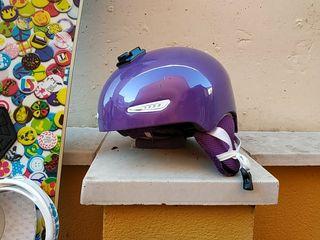 casco snowboard chica