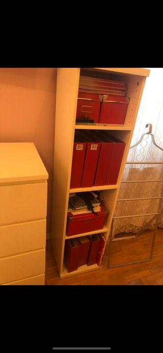 Estante blanco de Ikea