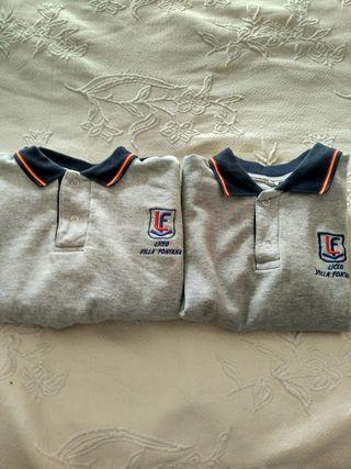 2 Sudaderas uniforme Liceo Villafontana