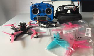 Drone de carreras, equipo completo