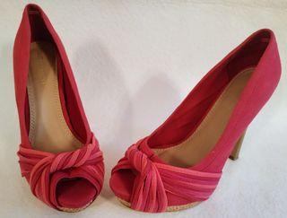 4002ccad Tacones de Bosanova sin estrenar talla 37. Zapatos rojo/rosa SUITBLANCO T38