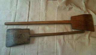 Pala de madera de una pieza