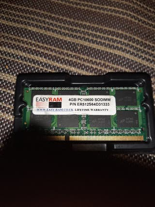 ram 4GB para portatil o macbook