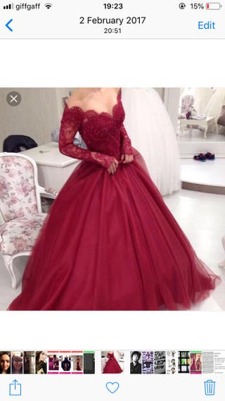 Red Ball gown prom dress size 12-14