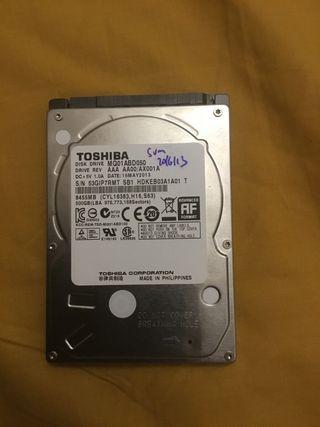 Disco duro Toshiba de portátil 500 gigas