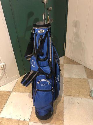 Bolsa de golf tripode con 6 palos
