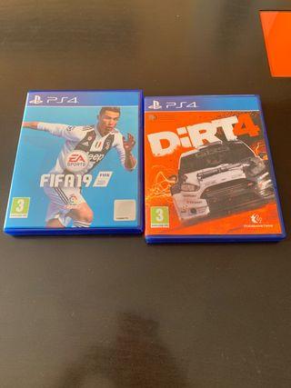 Fifa 19 y Dirt 4 PS4