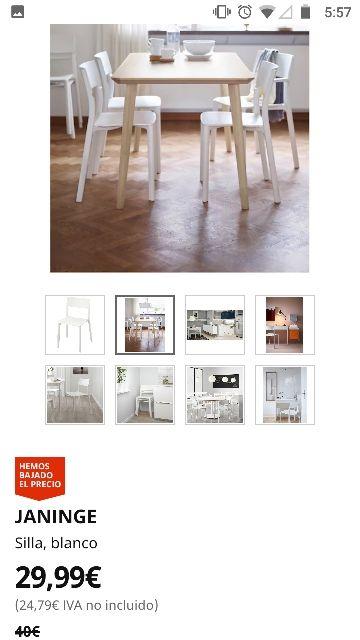 Conjunto 4 sillas Kaninge ikea