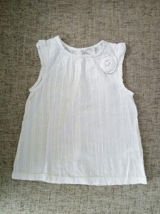 Vestido blanco niña, talla 18-24 meses