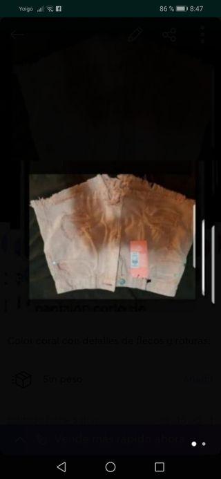 pantalón corto de estreno talla S