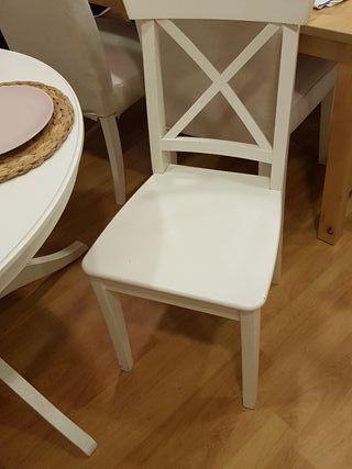 mesa extensible con 4 sillas ikea