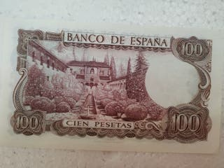 Billete de 100 pesetas del 1970