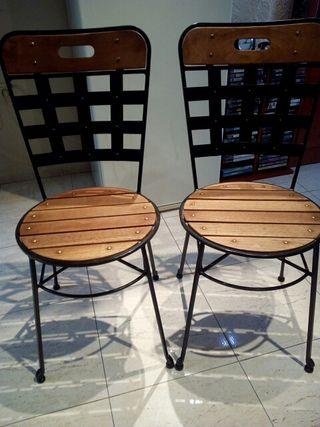 sillas rústicas forja