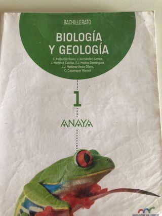 Libro escolar biología 1° Bach