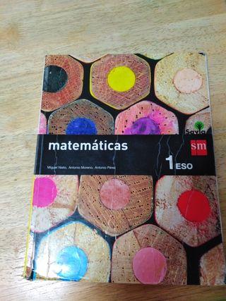 libro de matemáticas 1 de la Eso