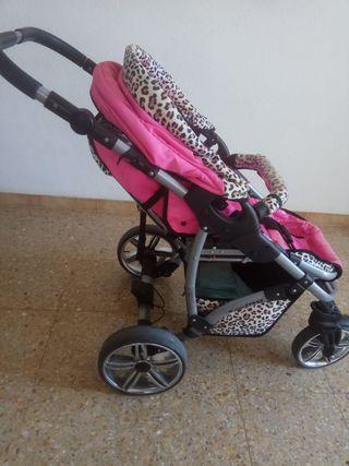 Carrito niña 3 piezas ( cuco, sillita,silla coche)