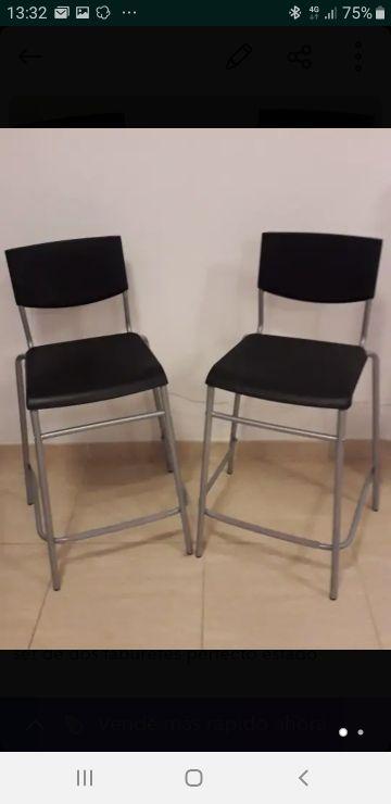 2 sillas altas ikea