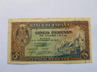 5 pesetas 1940 Burgos EBC-