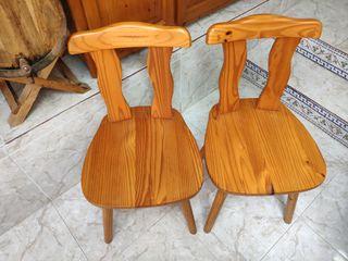 Sillas madera pino