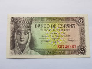 5 pesetas 1943 SC