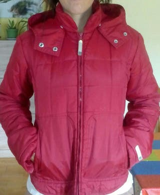 abrigo ligero mujer rojo talla m