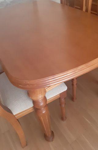 mesa salón comedor y 6 sillas