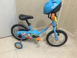 Bicicleta niñ@ y casco