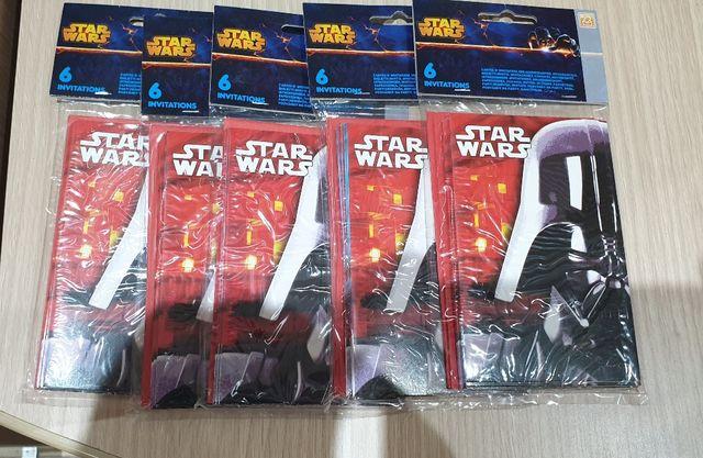 Nuevas Precintadas Tarjeta Invitaciones Star Wars De Segunda