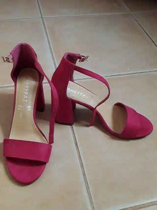 tacones rosa