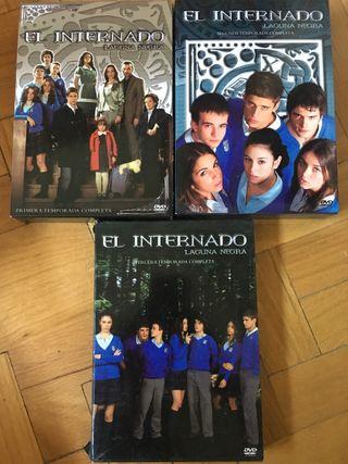 DVDs y libros El Internado
