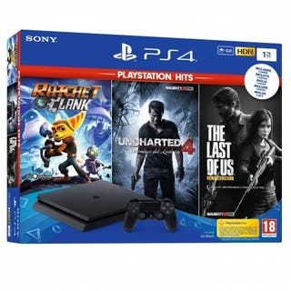 PS4 1TB con Ratchet y Clank + Uncharted 4 + The La