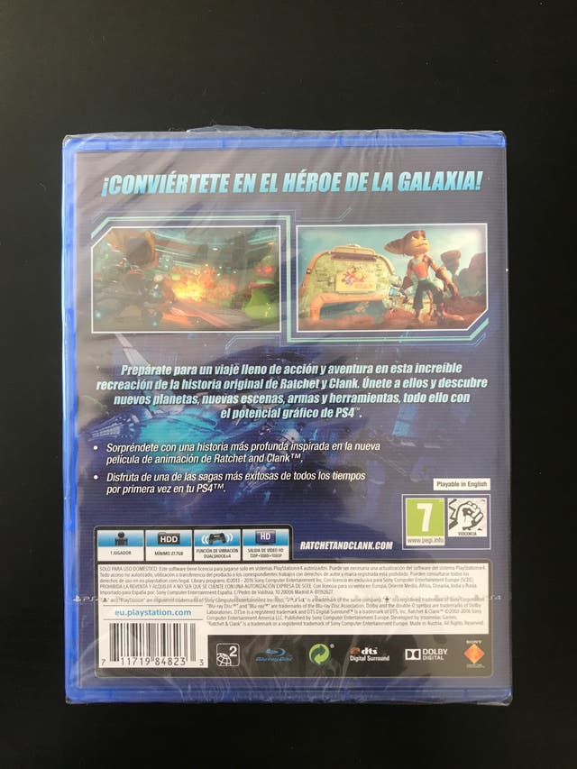 Juego Ratchet & Clank PS4