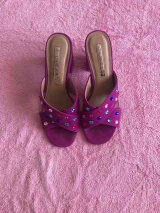 Sandalia/ zapato destalonado buganvilla
