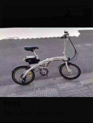 Bicicleta eléctrica plegable marca Onda Bike