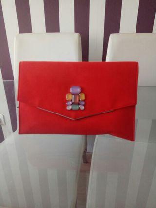 bolso- cartera ,boda,evento,coral