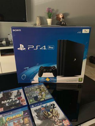 PS4 pro 1 TB con 8 juegazos