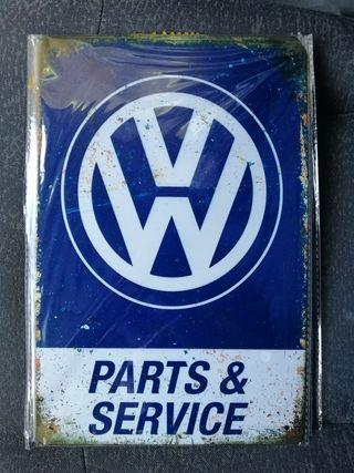 Placa de chapa decorativa volkswagen