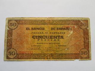 50 pesetas 1938 de Burgos