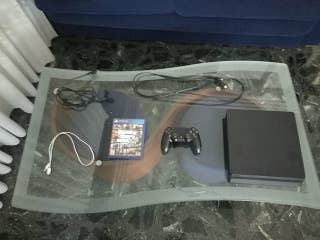 PS4 Slim 1TB + DualShock 4 Negro + GTA V PS4