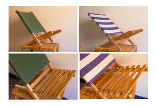 Sillas de madera- playa/piscina (las dos) 25€