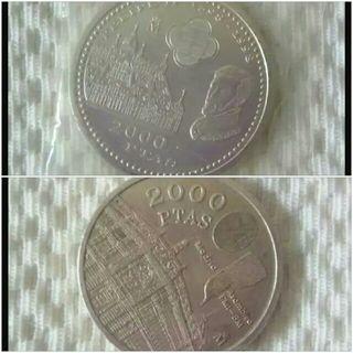 moneda plata 2000 pesetas