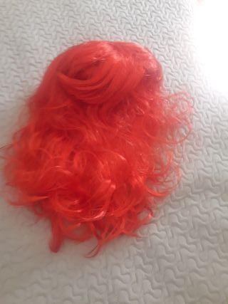 peluca pelirroja disfraz
