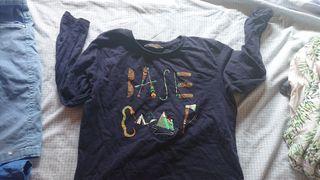 camiseta niño talla 9-10 manga larga