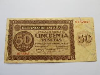 50 pesetas 1936 Burgos MBC